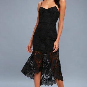 Lulu's Black Bodycon Midi Dress